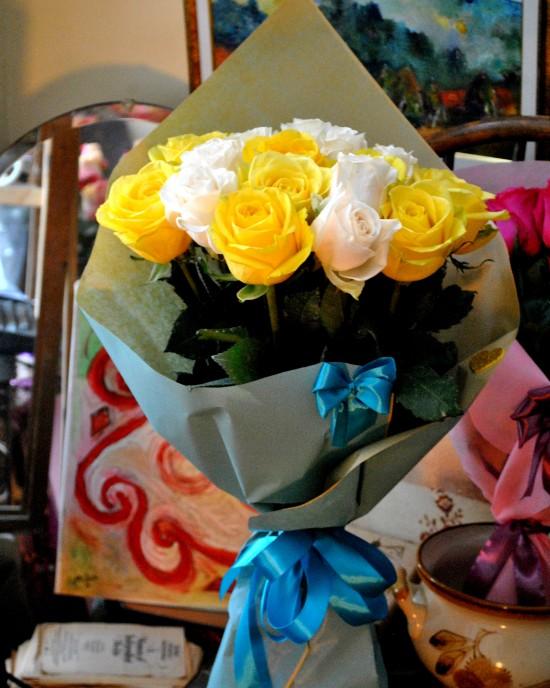 Buchet Trandafiri Macarons