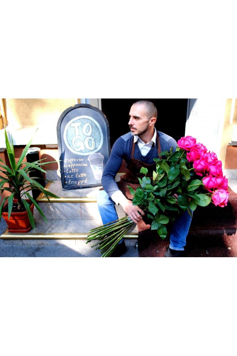 surprise bouquet with long stem roses