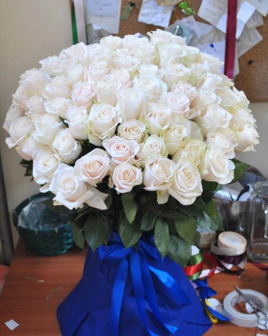 Buchet trandafiri albi -101 SnowFlake